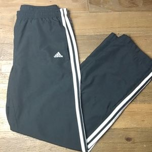 Adidas straight leg track pants sz s